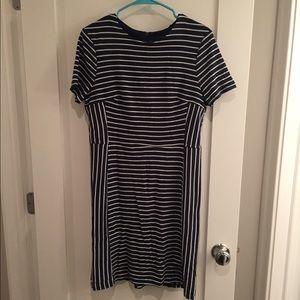 Primark Atmosphere Navy Striped Midi Dress